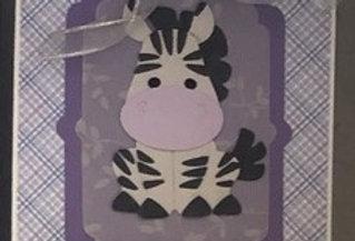 Custom Zebra Baby Card