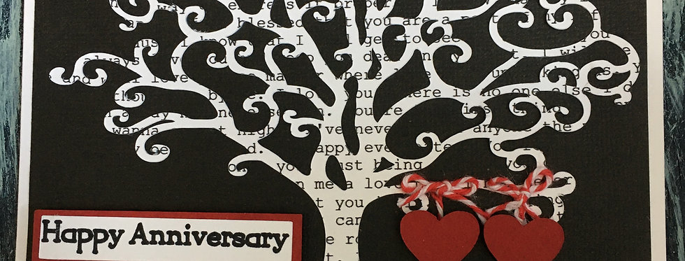 Tree Anniversary with Hearts