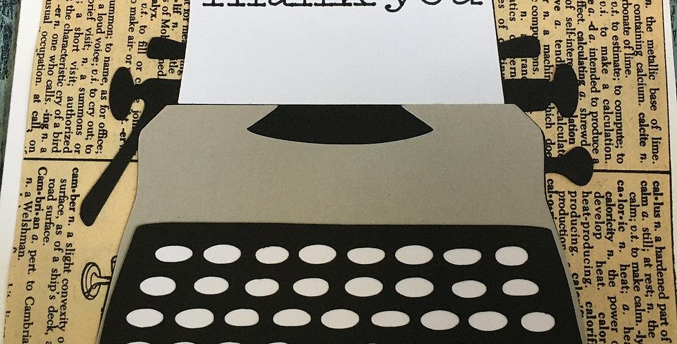 Thank you typewritten note