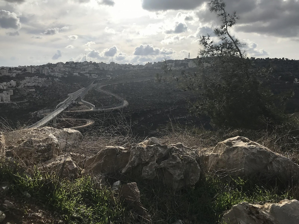 A section of the Seam Zone Wall separating East from West Jerusalem, January 1st, 2020