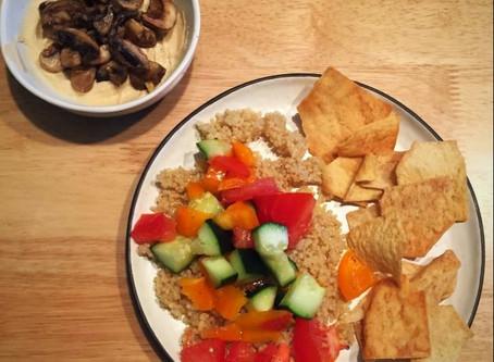 Chopped Israeli Salad & Sauteed Mushrooms with Garlic
