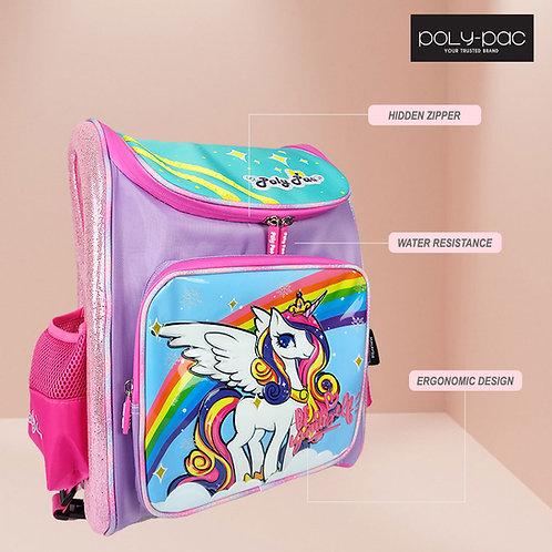 "Poly Pac Unicorn 16"" ERGONOMIC Backpack School Bag - PE2041"