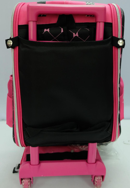 Detachable trolley school bag
