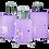 Thumbnail: Waterpolo BA9842 4W ABS Hardcase Luggage With Small EVA Case