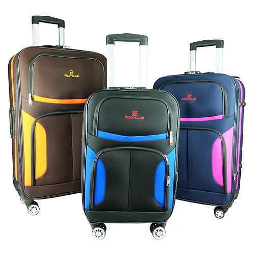 Poly Club 4 Wheels EVA Expandable Soft Case Trolley Travel Luggage