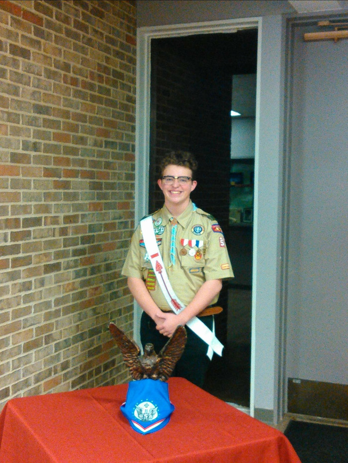 Troop 50's newest Eagle Scout