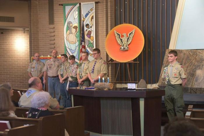 Evan Boyd's Eagle Ceremony