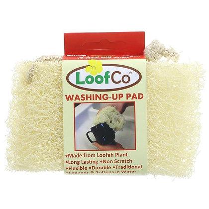 LoofCo natural loofah washing up pad