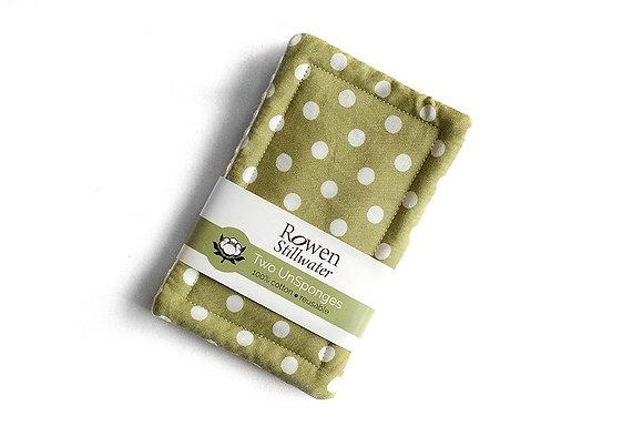 UnSponge - green polka dot 2 pack
