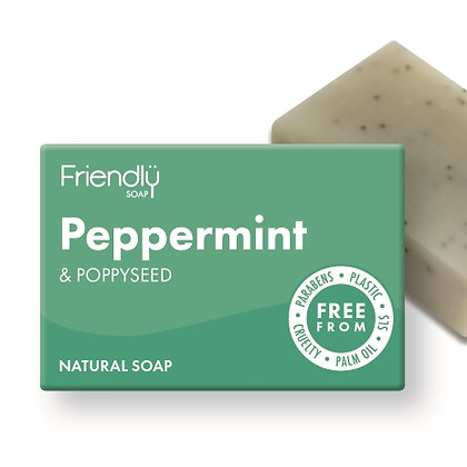 Friendly Soap -  Peppermint and poppy seed