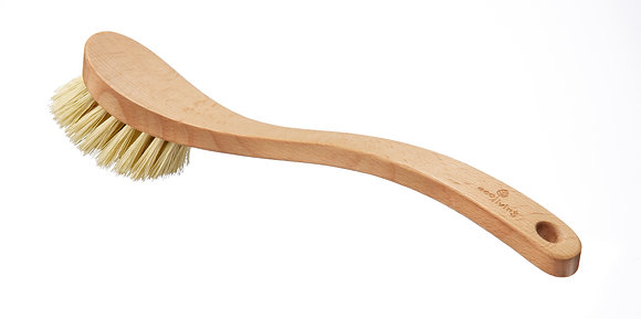 Wooden dish brush with plant-based bristles