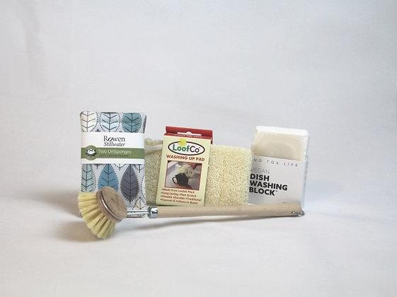 Plastic-free washing-up starter kit