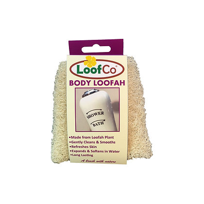 LoofCo natural body loofah