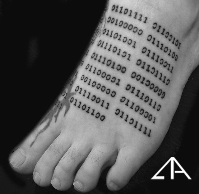 Binary Tattoo Font images