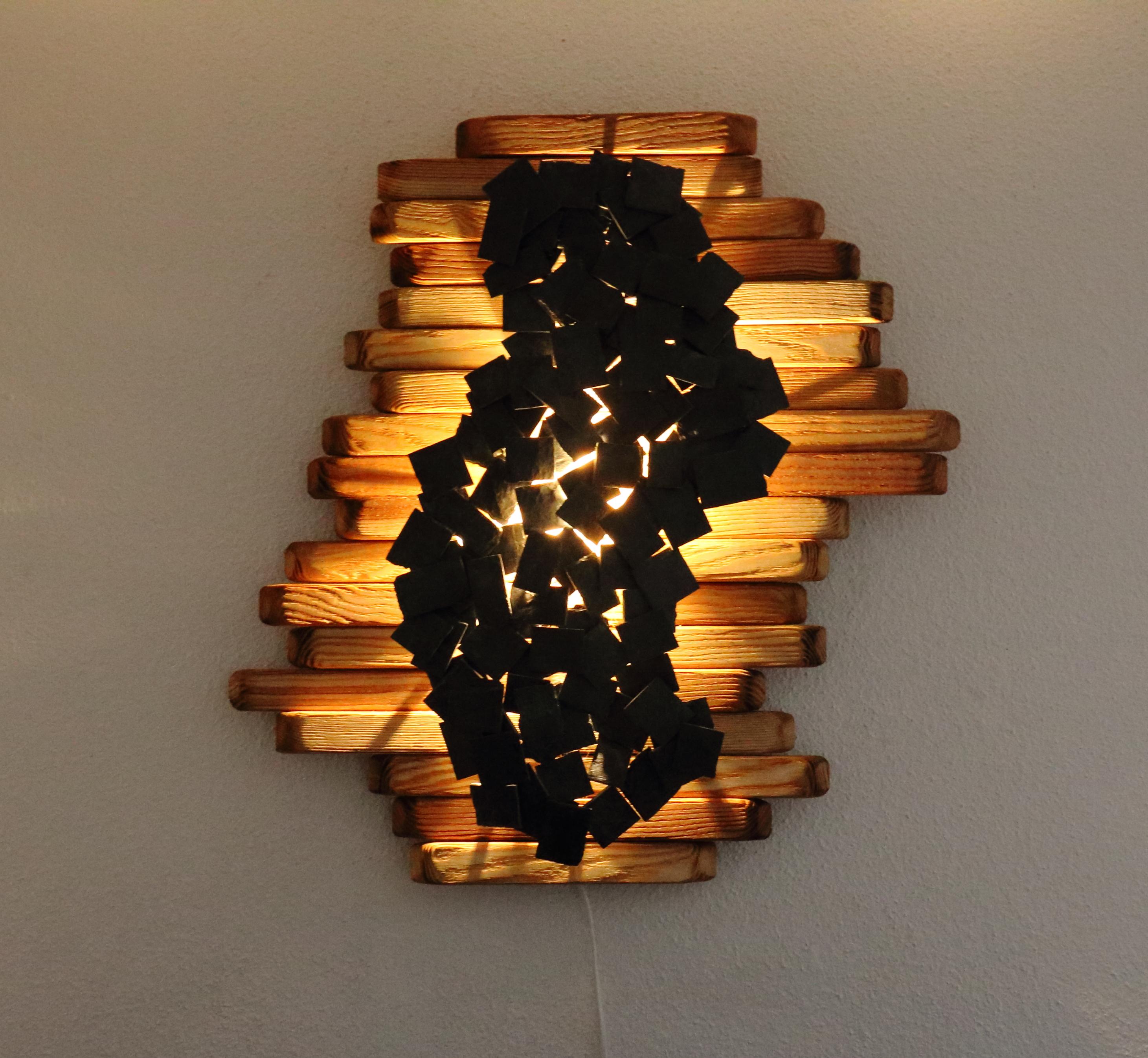 Tableau lumineux en frêne