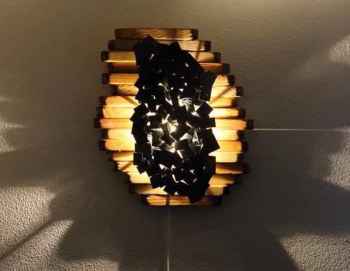 Tableau lumineux en frêne et ardoise