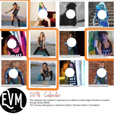 EVM Make Art Great 2018 Calendar