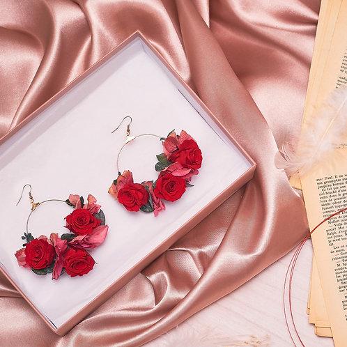 Boucles d'Oreilles - Roses Eternelles