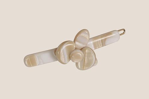 Barrette Fleur - Monture boule 4,5cm