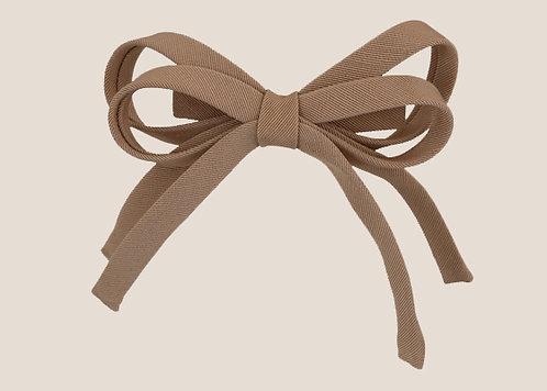 Laura - Barrette Ottoman noeud à double pans