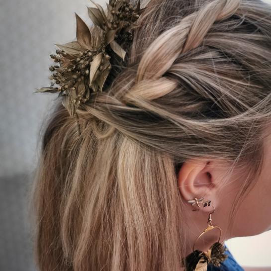 Bijoux de tête en fleurs stabilisées