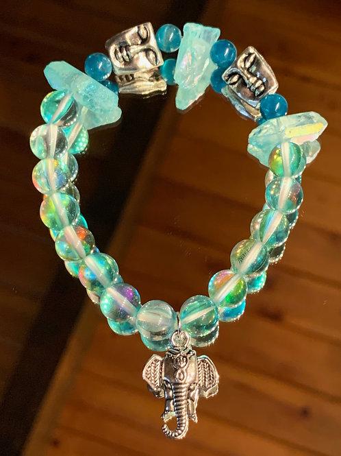Tranquil Thai - Aqua Aura Blue Apatite bracelet