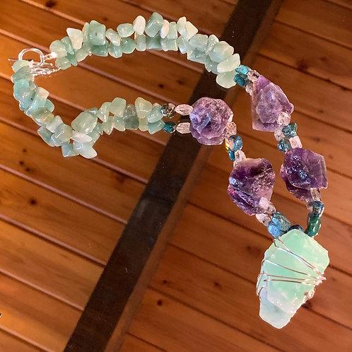 Amethyst-Aventurine necklace
