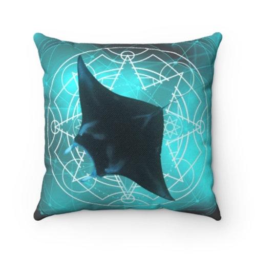 Sacred Geometry Mystic Manta Throw Pillow
