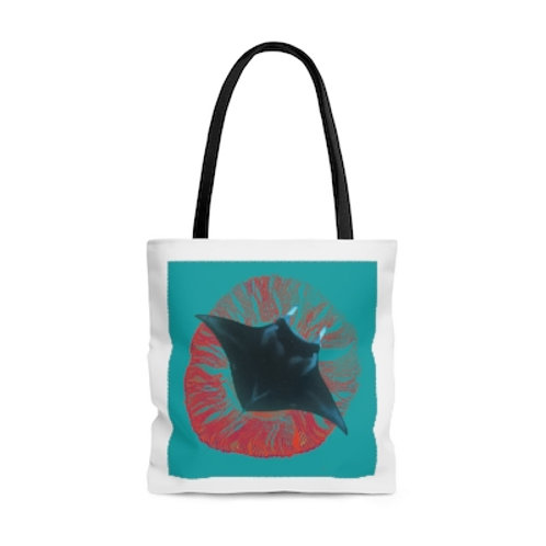 Teal/Orange Mystic Manta Tote
