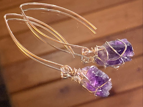 Amethyst Earrings -2