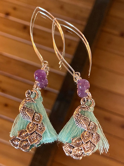 Soul Animal - Peacock earrings-2