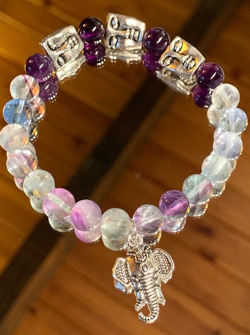 Tranquil Thai - Fluorite Amethyst bracelet