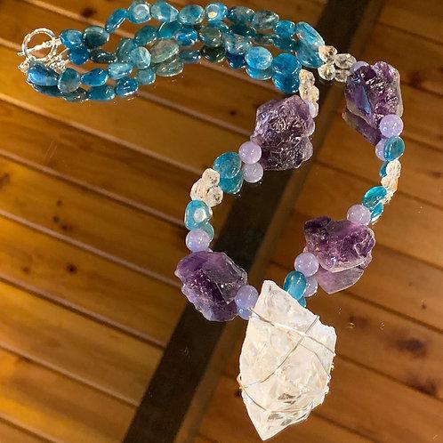 Amethyst-Apatite necklace