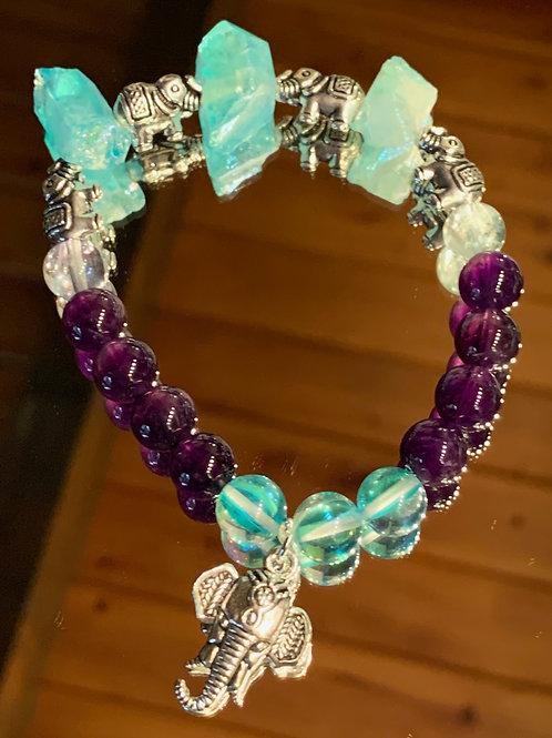 Tranquil Thai - Amethyst Aqua Aura bracelet