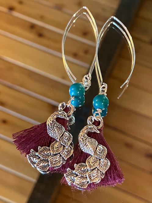 Soul Animal - Peacock earrings-1
