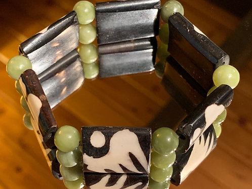 Safari Chic Jade Bone bracelet