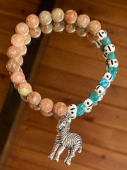 Safari Chic Jasper-Turquoise Bone bracelet