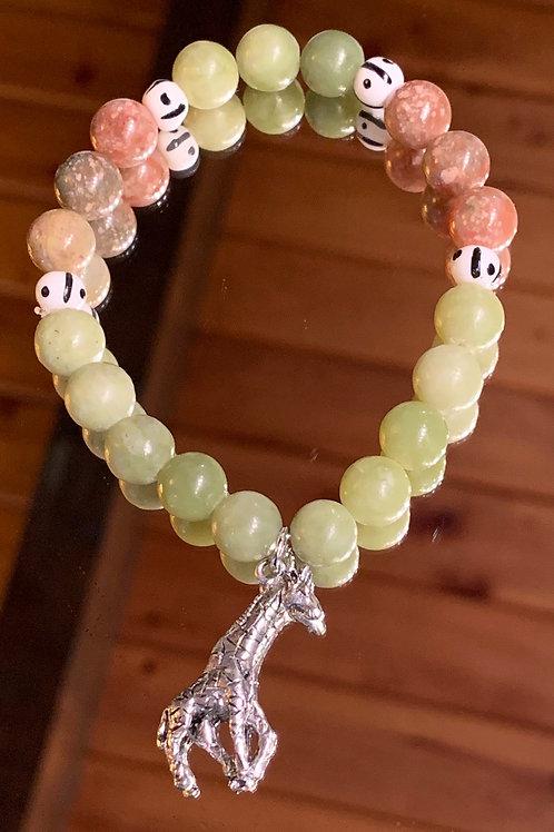 Safari Chic Jasper-Jade Bone bracelet