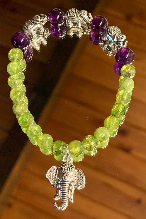 Tranquil Thai - Peridot Amethyst bracelet