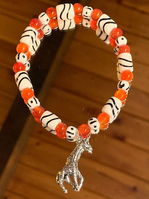 Safari Chic Red Agate Bone bracelet