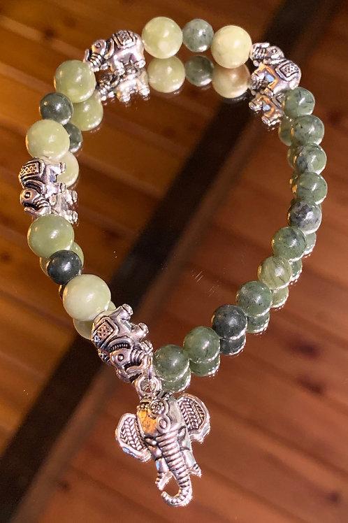 Tranquil Thai - Jade bracelet