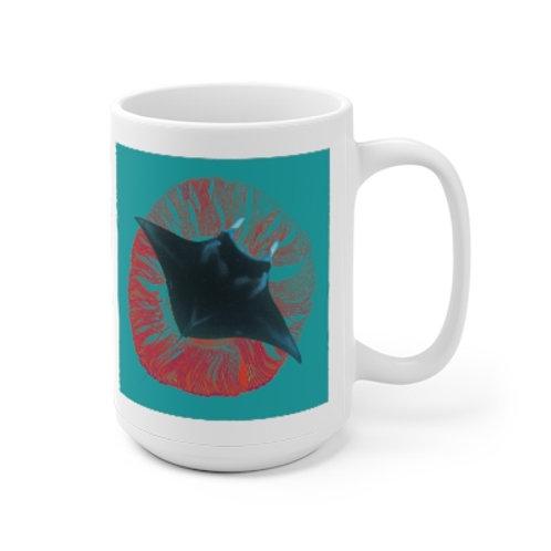 Mystic Manta Teal/Orange Mug