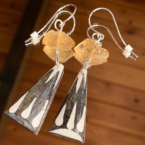 Safari Chic Citrine Bone earrings