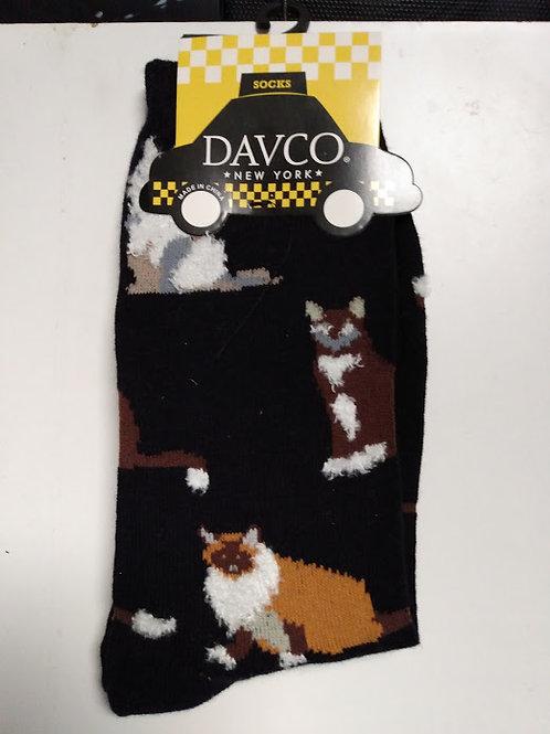 DAVCO HANDSOME CATS WOMEN'S CREW