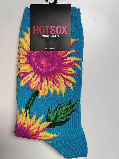 HOT SOX SUNFLOWERS WOMEN'S CREW
