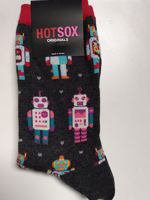 HOT SOX ROBOTS GALORE WOMEN'S CREW
