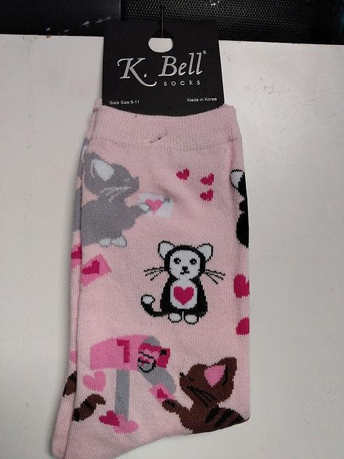 K. BELL KITTY LOVE LETTERS WOMEN'S CREW