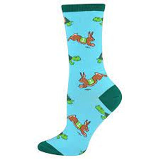 SOCKMSITH TORTOISE AND HARE WOMEN'S CREW
