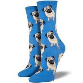 SOCKSMITH PUG DOGS WOMEN'S CREW