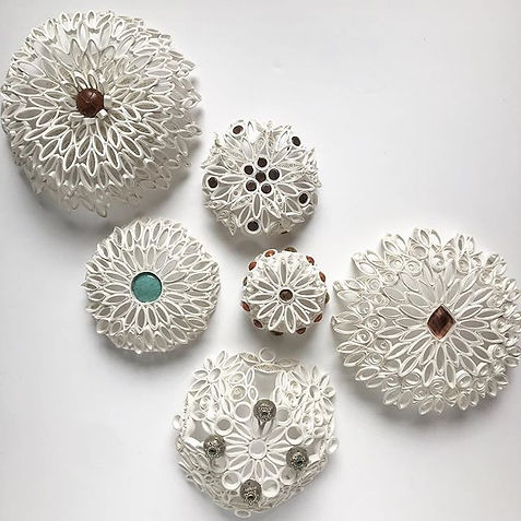 Underside of my quilled bowls_._._._#paper #paperart #paperquilling #papersculpture #quill